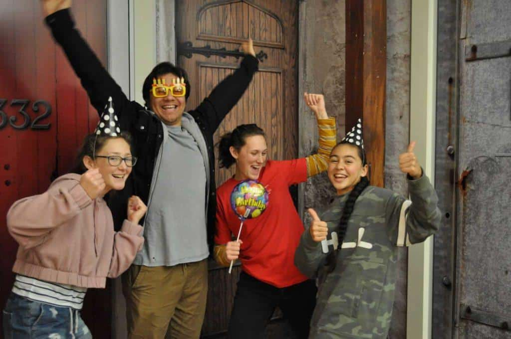 Party celebration at our Auckland escape rooms